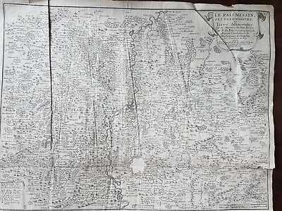 carte originale  pays messin metz 1705