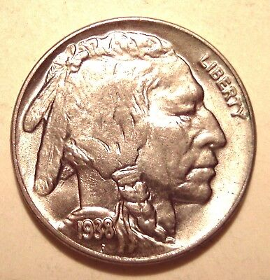 USA ★★★ 5 Cents 1938 D unc. ★★★ 695 Indianer
