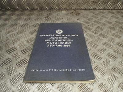 BMW R50 R60 R69 Boxer Twin Original Genuine Repair Manual October 1958