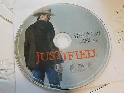 Justified First Season 1 Disc 3 DVD Disc Only 60-123
