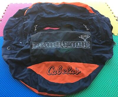 Cabela's Float Fishing Inner Tube Cover Navy/Orange Fly, River, Lake Fishing?