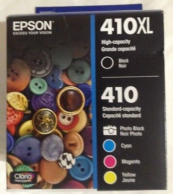 Epson 410XL Black & Standard Photo Black and C/M/Y Color Ink Cartridges 2019/20