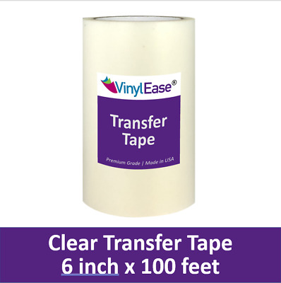 6 in x 100 ft Roll of Clear HIGH TACK Transfer Tape for Sign Craft Vinyl V0804