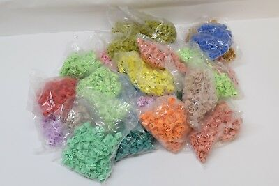 Bag of 100x Colored Garment Clothes Hanger Size Tag Marker Clips Various Sizes