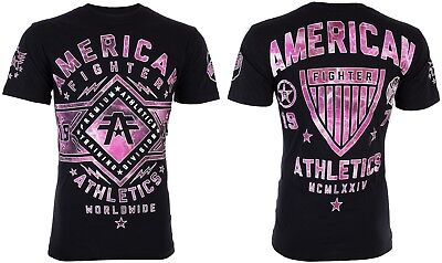 AMERICAN FIGHTER Men T-Shirt SANTA CLARA MARBLE Athletic BLACK Biker Gym UFC $40