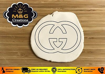 GUCCI Logo Cookie Fondant Cutter Birthday Cake Decorating 3 - 4 -5 INCHES UK