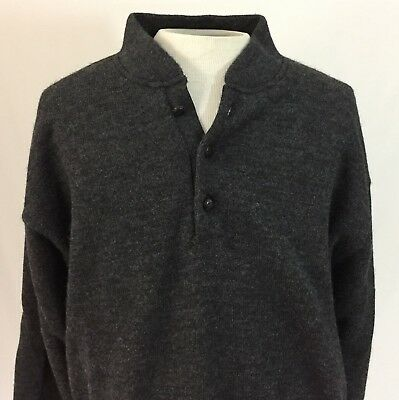 caa9b0361a137 Cabelas Mens L Wool Windstopper Wind Shear Lined Pullover Sweater Elbow  Patches