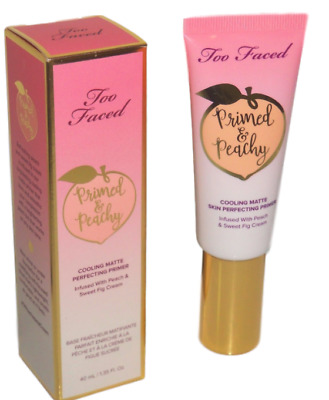 Too Faced Primed & Peachy Matte Face Primer Full Size 1.35oz NEW Fresh Boxed