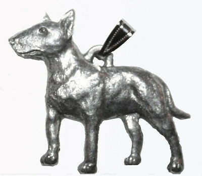 Bull Terrier Pendant Dog Harris Fine Pewter Made in USA jewelry
