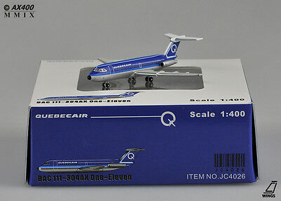 Quebecair BAC111-304AX JC Wings Scale 1:400 Diecast models           JC4026