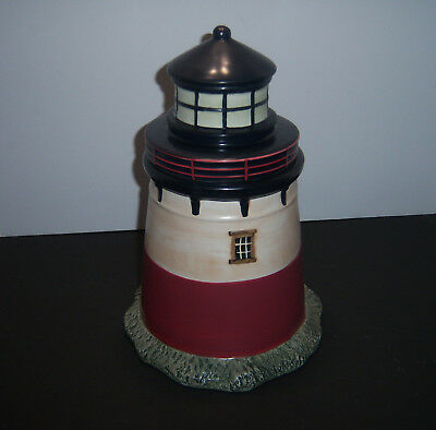 Lighthouse Cookie Jar Sakura David Carter Brown Nautical Decor