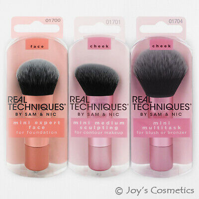 "1 REAL TECHNIQUES Full Sized Head Compact Handle Mini Brush ""Pick Your 1 Type"""