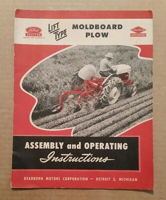 Ford Moldboard Plow,Assembly & Operating Instructions,1947