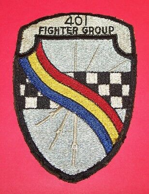 RARE ORIGINAL POST WW2 GERMAN MADE 401st FIGHTER BOMBER GROUP PATCH!