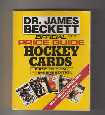 1991 Dr. James Beckett Official Price Guide Hockey Cards First Edition