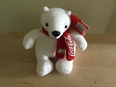 Coca Cola Plush Bear Felix Made From Recycled Coke Bottles