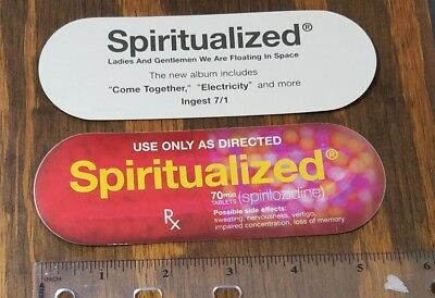 Spiritualized Ladies and Gentlemen... Promo Oval Pill STICKER 2x5.5 RARE 1997