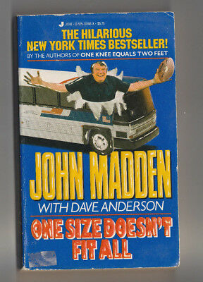 John Madden with Dave Anderson One Size Doesn't Fit All