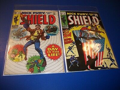 Nick Fury Agent of Shield #13,14 Silver Age lot of 2