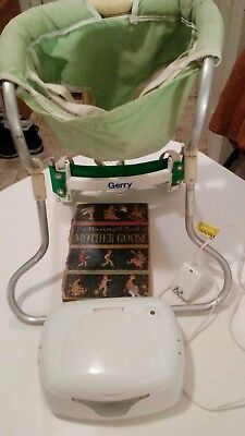 Lot Vintage GERRY baby carrier.dex baby wipes warmer. 1934 mother goose book