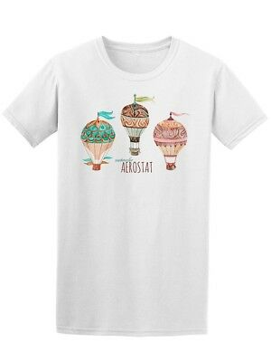 Aerostat Hot Air Balloon  Men's Tee -Image by Shutterstock