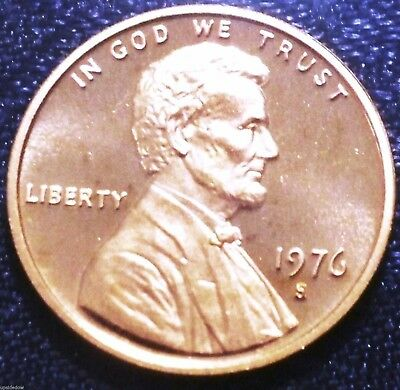 1976 S PROOF Penny BU Gem Brilliant UNCIRCULATED RED Cameo Low 4.1 MiLLiON nice