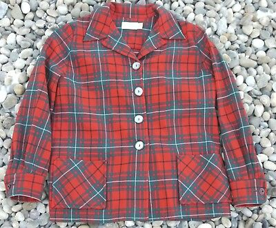 Vintage Early 1960s PENDLETON Wool 49er PLaid Tartan Smock M