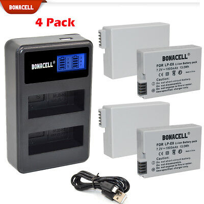 7.2V Bonacell LP-E8 Battery Charger for Canon EOS Rebel T2i Rebel T3i T4i T5i TP