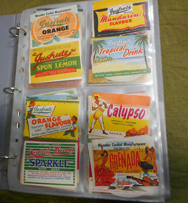 #zz7. Collection Of 200 Australian  Soft Drink Labels