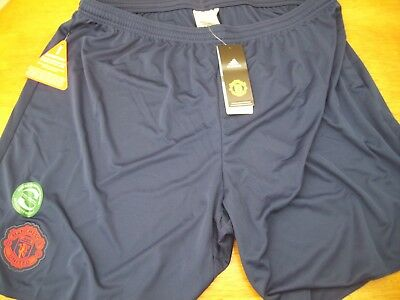 MANCHESTER UNITED navy  shorts by ADIDAS  Size 2XL ALL TAGS
