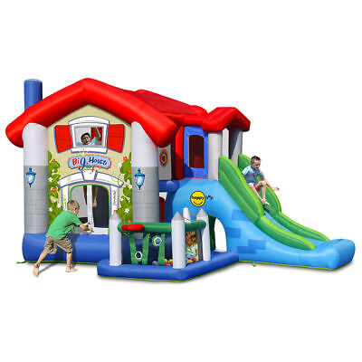 Castello Giostra Gonfiabile Big House Con Scivolo Pompa Inclusa Happy Hop