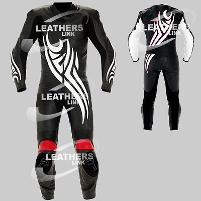 Men Leather Biker Motorcycle Motorbike Racing Leather Suit MST-90(US 38,40,42)