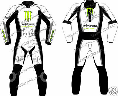 Monster Racing Motorbike Motorcycle Racing Leather Suit MST-67-M (USA 44,46,48)