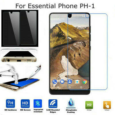 2x 9H+ For Essential Phone PH-1 Ultra Slim Tempered Glass Screen Cover Protector