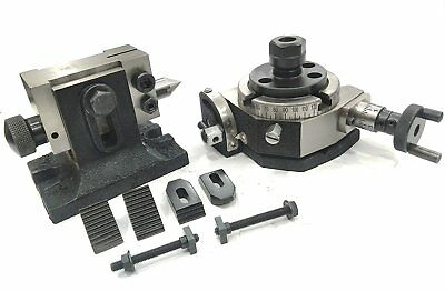 """3""""/80 Mm Rotary Indexing Table+M6 Clamp Kit, Er Collet Adaptor Both Collet"""