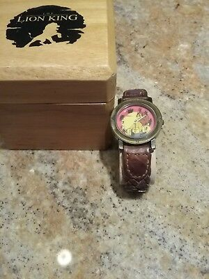 VINTAGE Gold-Tone Disney Lion King Watch by Pedre Limited Edition w/Box #7907