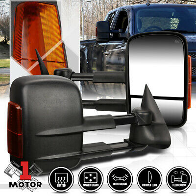 [Pair]Power+Heated Extendable LED Signal Towing Side Mirror for 99-02 GMC GMT800