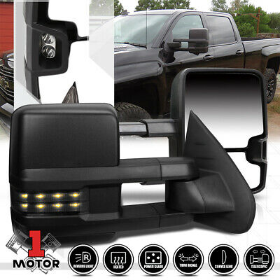 [Pair]Power+Heated w/LED Signal Towing Side Mirror for 07-14 Silverado/Suburban