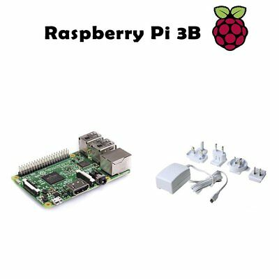 Raspberry Pi 3 Model B 1GB RAM Quad Core 1.2GHz 64bit w Power Supply White