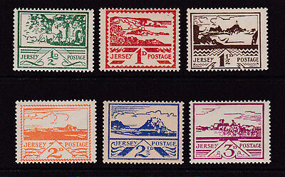 Gb. Jersey. 1943-44. Sg 3-8. Unmounted Mint.
