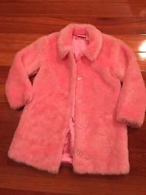 Size 7 Barbie Plush Pink Coat - Only Worn Once