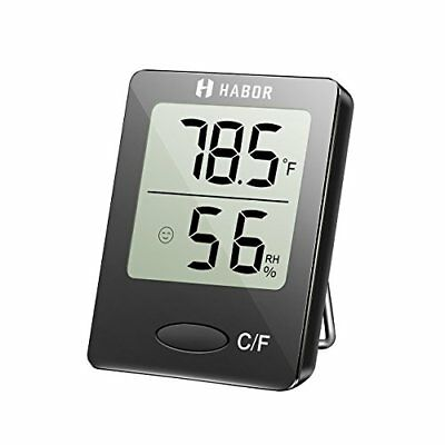 Habor Hygrometer Thermometer Digital Indoor Humidity Monitor Gauge Meter with