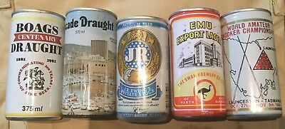 Beer Can Collection , Boags, Cascade, Emu, Dallas, including rare tribute cans.