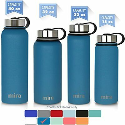 MIRA 40 oz Stainless Steel Vacuum Insulated Wide Mouth Water Bottle | Thermos 24
