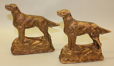 Spaniel Bird Dog Bookends, Vintage