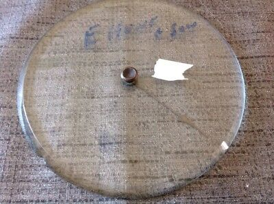 Barometer Glass Bevelled And Pointer Marked E Hunt And Sons 124mm Diameter