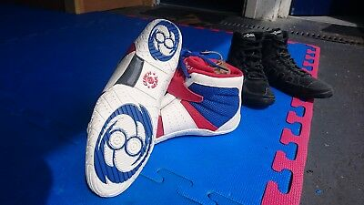 clinch gear invincible wrestling boots uk size 9 boxing