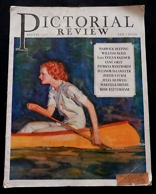 Pictorial Review August 1932   FASHIONS - DOLLY DINGLE - ZANE GREY - HOLLYWOOD