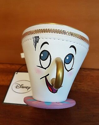 Primark Disney Beauty And The Beast Chip Coin Cup Purse Zip Wallet Trinket BNWT