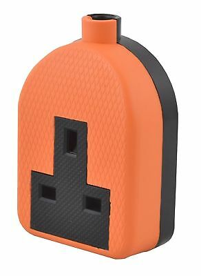 High Impact Heavy Duty Extension Trailing 13a Socket 1  2 Gang Lawnmower Orange